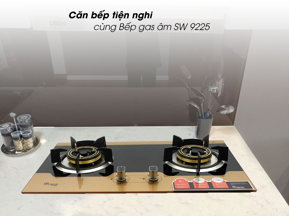 Bếp gas âm Sowun SW 9225