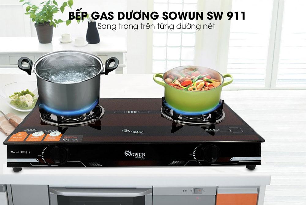 bếp gas dương Sowun SW 925 sang trọng